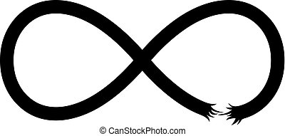 Broken infinity symbol (on white background)