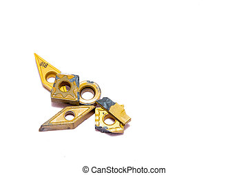 Broken lathe tools for heavy industry