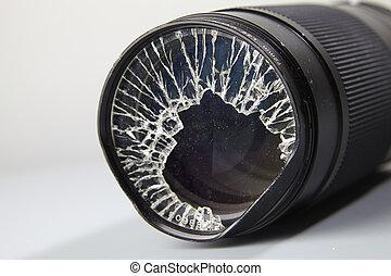 broken lense
