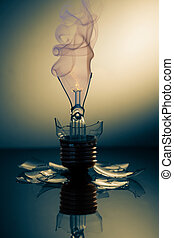 Broken light bulb