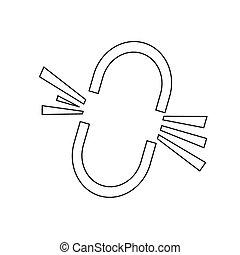 Broken Link Icon design Illustration