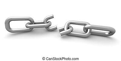 Broken Link Internet Connection Concept