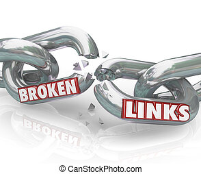 Broken Links Chain Separated Damaged Connections - Several...