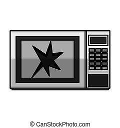 Broken microwave oven icon