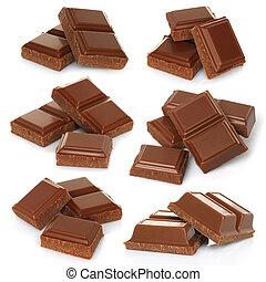 Broken milk chocolate bar set - Broken milk chocolate bar...