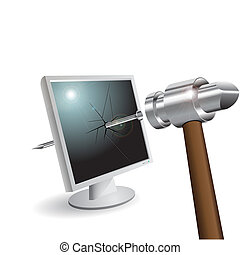 broken monitor
