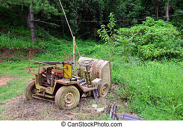 Broken Old Machine for construction
