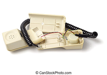 Broken Old Telephone Handset