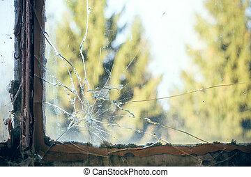 broken pane of glass