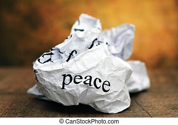 Broken peace concept