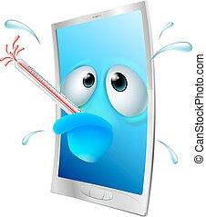 Broken phone cartoon