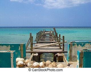Broken Pier in Jamaica