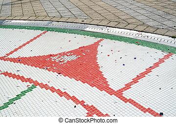 pieces of floor mosaic