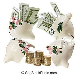 Broken Piggy Banks