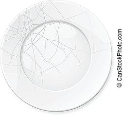 Broken Plate. Illustration for design on white background