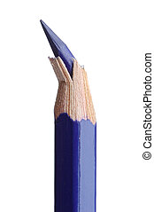 broken point - broken pencil point over a white back ground