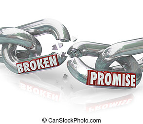 Broken Promise Chain Links Breaking Unfaithful Violation -...