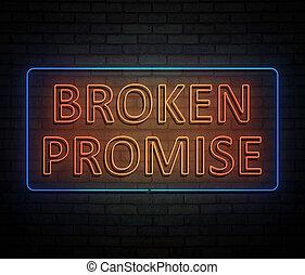 Broken promise concept. - 3d Illustration depicting an...