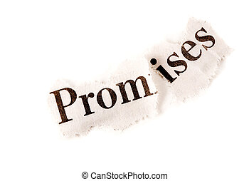 """Broken Agreement concept, suitable for many other uses including depression. The word """"promise"""" is torn in two."""