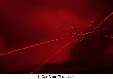 broken red glass