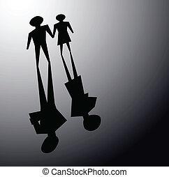 broken relationsip, divorce concepts - illustrations of...