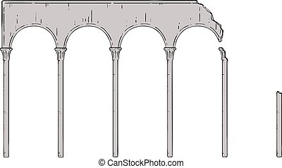 broken ruins columns