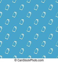 Broken screen smartphone pattern vector seamless blue
