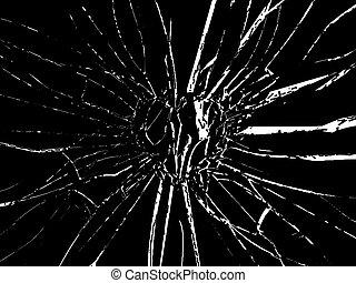 Broken Shattered glass heart shape
