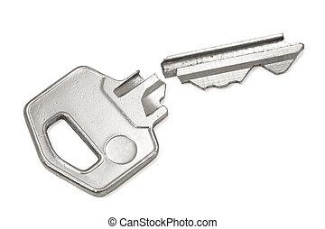 Broken silver key