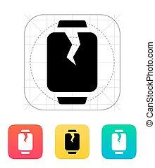 Broken smart watches icon. Vector illustration.