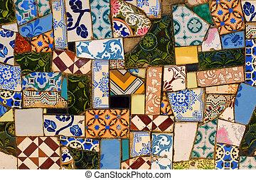 Broken Tiles Background