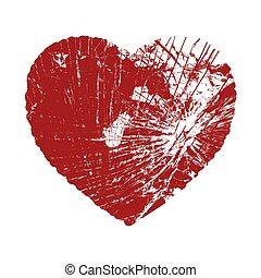 Broken Valentine Heart