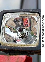 broken vehicle lamp
