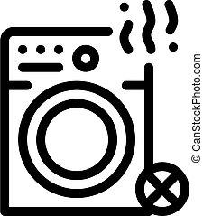 Broken Washer Icon Vector Outline Illustration