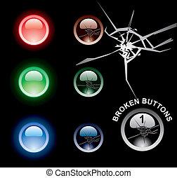 broken web buttons