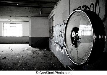 Broken weighing in an old factory