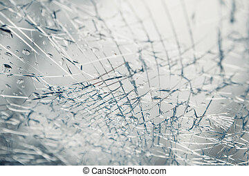 broken window after car crash accident