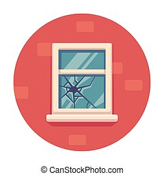 Broken window illustration