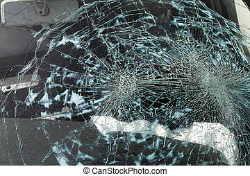 Broken Windscreen caused by an accident