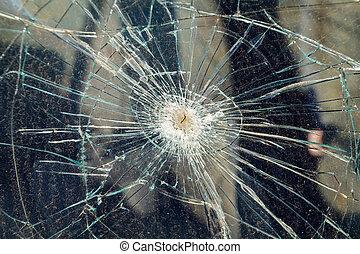 Broken windshield - Close up photo of a broken windshield