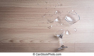 broken wine glass