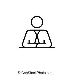 Broker line icon, concept sign, outline vector illustration, linear symbol.