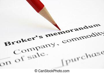Broker memorandum