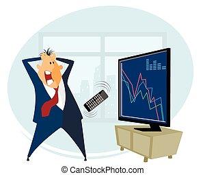 Broker trading on the stock