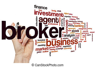 Broker word cloud concept