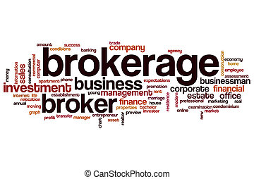 Brokerage word cloud concept