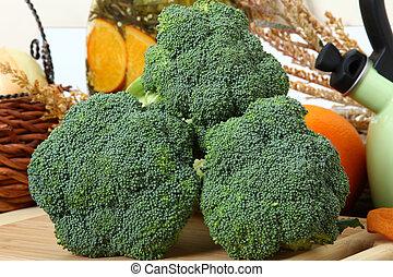 brokkoli, in, kueche