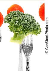 brokkoli, und, tomaten