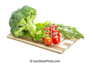Brokoli and cherry tomato