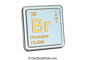 Bromine br chemical element periodic table 3d render pictures bromine br chemical element sign 3d rendering urtaz Gallery